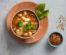 Tom yum goong (hot and sour soup)