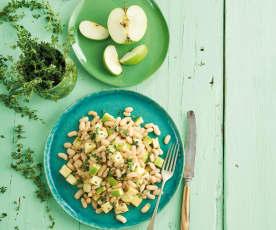 Salada de feijão e maçã