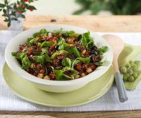 Ensalada de quinoa roja