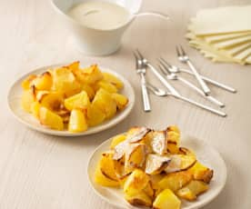 Patatas con salsa de cabrales