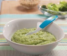 Buchweizen mit Brokkoli (als vegetarische Alternative)