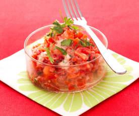Tartare de tomate et de poivron