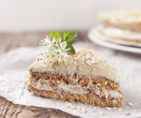 Mrkvový RAW dort s kešu krémem