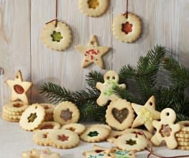 Galletas decoradas con caramelos