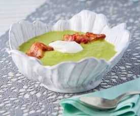 Sopa de chícharo y tocino