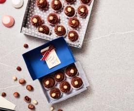 Schokolade-Nougat-Konfekt