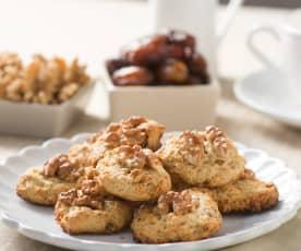 Cookies de dátiles, café y nueces