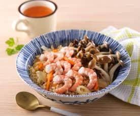 鮮菇蝦仁炊飯