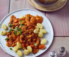 Gnocchi z warzywami i wieprzowiną
