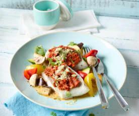 Mediterrane Fischfilets mit Gemüse