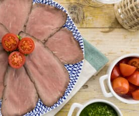 Roastbeef in salsa verde con patate