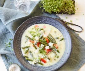 Buttermilch-Gemüse-Eintopf