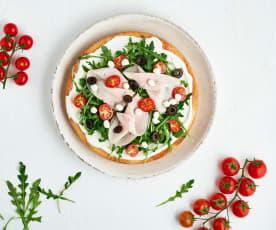Tarte au parmesan et légumes frais