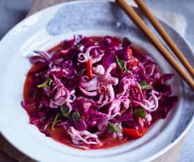Tintenfisch-Salat scharf-sauer (酸辣墨鱼)