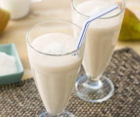 Batido de coco y pera (sin lactosa)