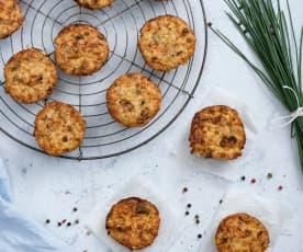 Muffiny warzywno-jajeczne z serem