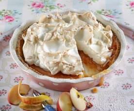 Apfelkuchen mit Schaum
