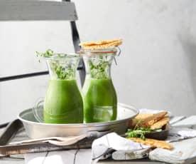 Kalte grüne Suppe