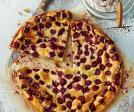 Kirschpfannkuchen mit Stracciatella-Quark