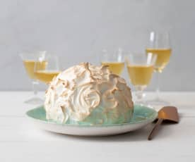 Chocolate berry baked Alaska