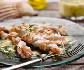 Rybí šňůrky s teplou vinaigrette