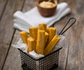 Ricotta and polenta chips