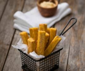Ricotta and polenta chips