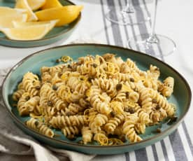 Tuna and Caper Sauce Fusilli