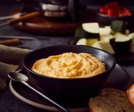 Knoblauch-Käse-Creme zum Dippen und Überbacken