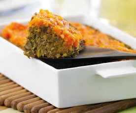 Assado de lentilhas