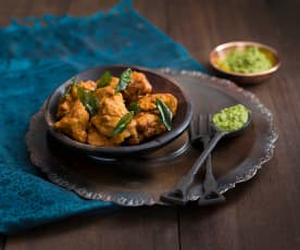 Chicken 65 and green chutney