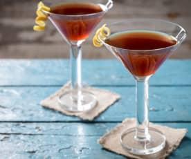 Cóctel de martini con rooibos especiado