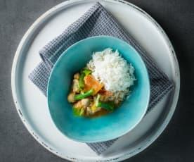 Kürbis-Joghurt-Curry mit Kichererbsen