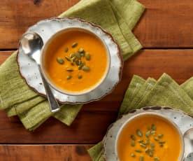 Vellutata speziata di carote e zenzero