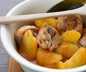 Cazuela de patatas con pollo