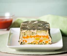 Pastel de verduras y queso fresco