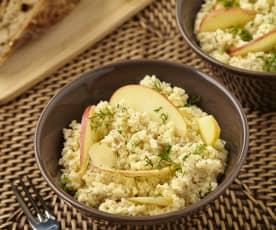 Sýrový salát s vlašskými ořechy