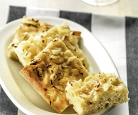 Focaccia with onions