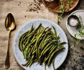 Zelené fazolky s tymiánem