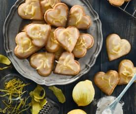 Mandlová srdíčka s citrónovou polevou