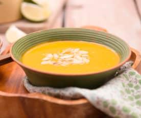 Zupa krem z batatów i marchewek