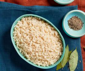Arroz vaporizado (Cocción de arroz)