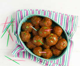Strawberry BBQ Meatballs