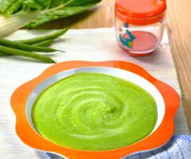 Papilla de verduras y ternera