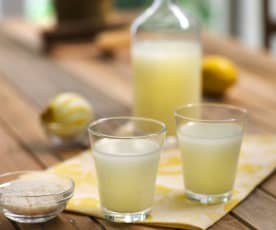 Bebida de arroz basmati al limón