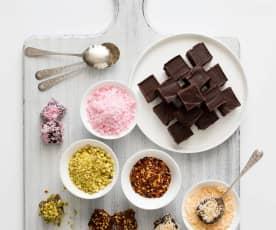 DIY chocolate truffles