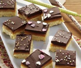 Bouchées caramel-chocolat