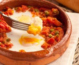 Huevos a la flamenca al vapor