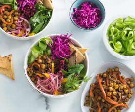 Chickpea shawarma salad bowl