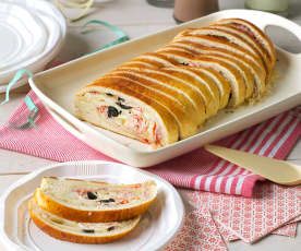Tronco de pan relleno